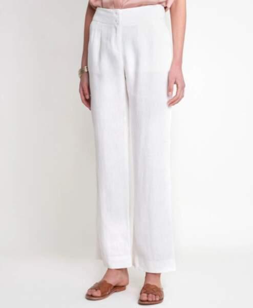 Pantalon large en lin galaxy, 89€ au lieu de 109€, Maison 123