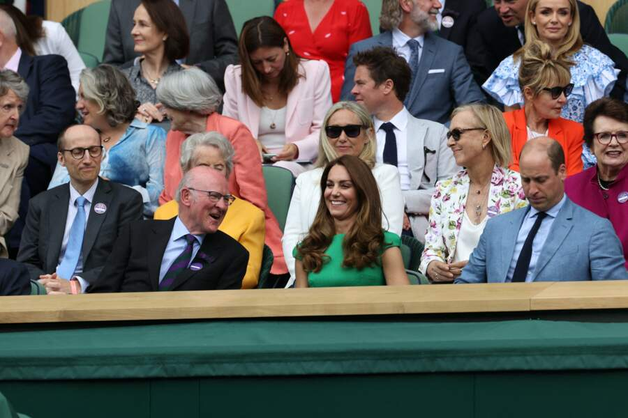 Le duc de Kent a rejoint le couple royal dans les gradins avant la finale féminine de Wimbledon ce 10 juillet.