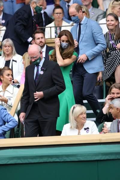 Kate Middleton et le prince William lors de leur arrivée à la finale féminine à Wimbledon, ce samedi 10 juillet.