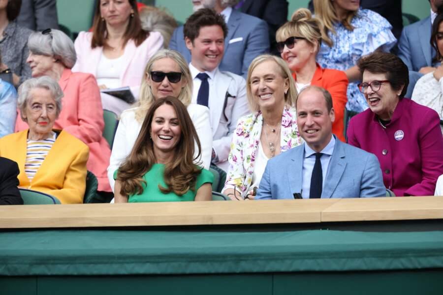 Pour la finale féminine de Wimbledon ce 10 juillet, Kate Middleton a opté pour un look glamour avec une robe Emilia Wickstead.