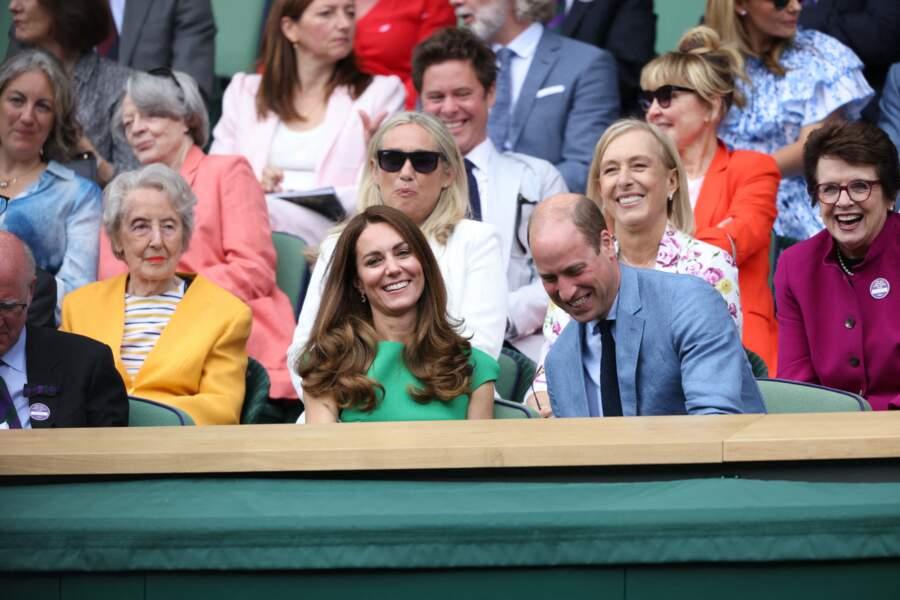 Kate Middleton a choisi un look vert émeraude pour sa venue à la finale féminine de Wimbledon ce 10 juillet.