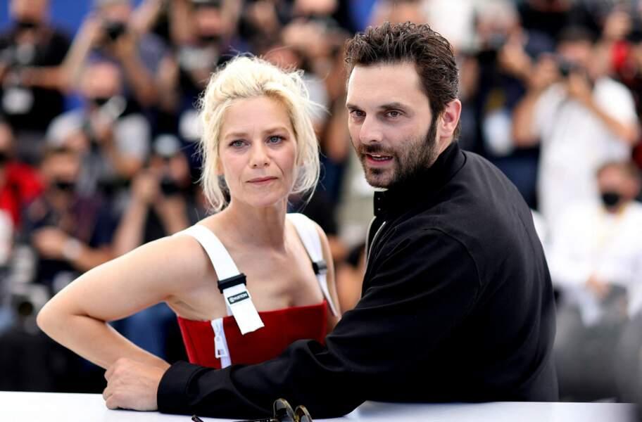 Marina Foïs et Pio Marmaï, duo glamour lors du photocall du film La fracture