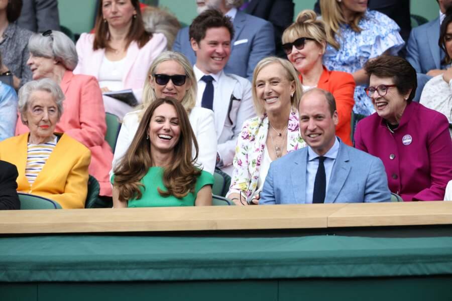 Dans les rangs derrière le couple royal lors de la finale à Wimbledon, ce samedi 10 juillet, se trouve l'actrice Priyanka Chopra.