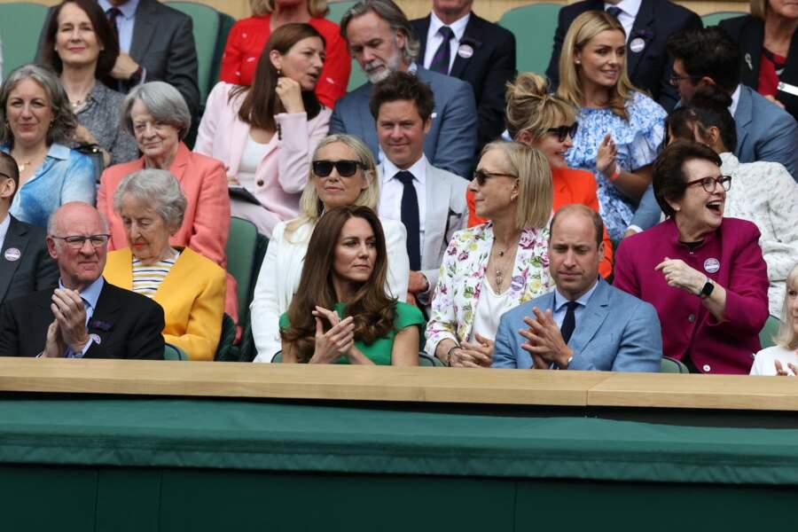 Kate Middleton et le prince William ont applaudi pendant la finale féminine de Wimbledon ce samedi 10 juillet.