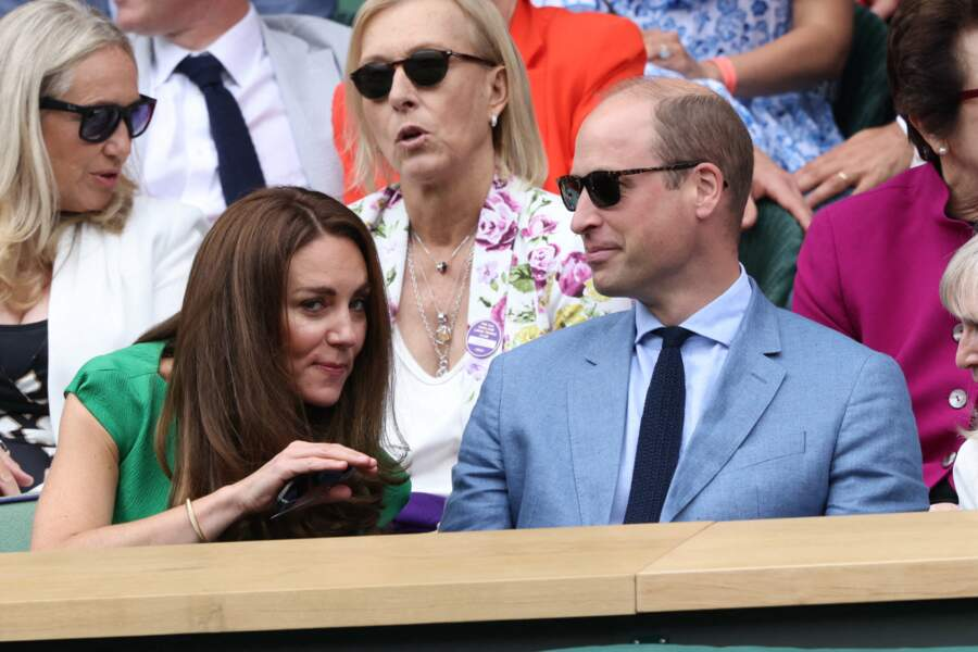 Kate Middleton et le prince William sont venus ce samedi 10 juillet assister à la finale à Wimbledon entre Barty et Pliskova.