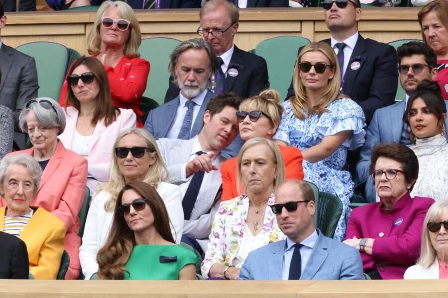 Le prince William et Kate Middleton dans les tribunes pour la finale Dames du tournoi de tennis de Wimbledon au All England Lawn Tennis and Croquet Club à Londres, Royaume Uni, le 10 juillet 2021.