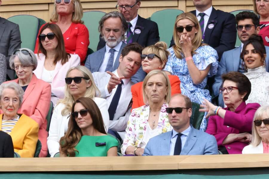Le couple de Cambridge a pris place dans les tribunes pour la finale Dames du tournoi de tennis de Wimbledon ce samedi 10 juillet.