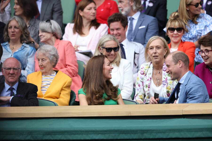 Les Cambridge ont a plusieurs reprises éclaté de rire depuis la Royal Box avant le début du match ce 10 juillet.