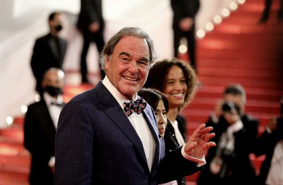 Oliver Stone et sa femme Sun-Jung Jun sont venus découvrir le film de Sean Penn au Festival de Cannes, ce 10 juillet