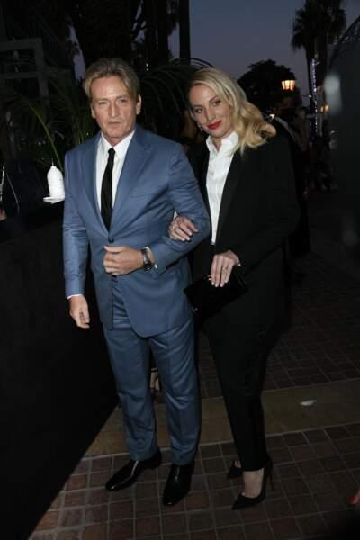 Benoît Magimel et Margot Pelletier le 9 juillet 2021 à Cannes