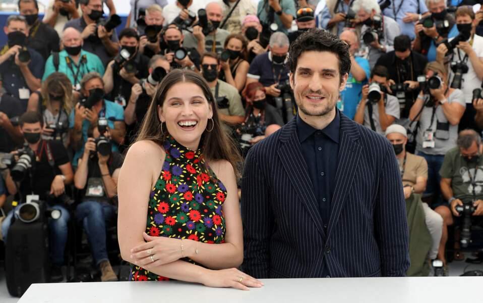 Laetitia Casta et son époux Louis Garrel le 12 juillet 2021 à Cannes