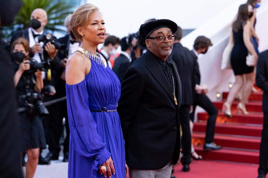 Spike Lee et sa femme Tonya Lewis Lee le 11 juillet 2021 à Cannes