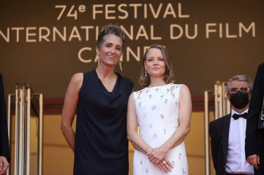 Jodie Foster et sa femme Alexandra Hedison le 6 juillet 2021 à Cannes