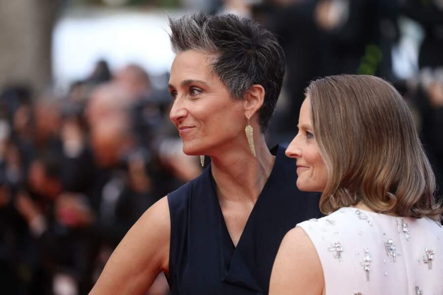 Jodie Foster et Alexandra Hedison à Cannes le 6 juillet 2021