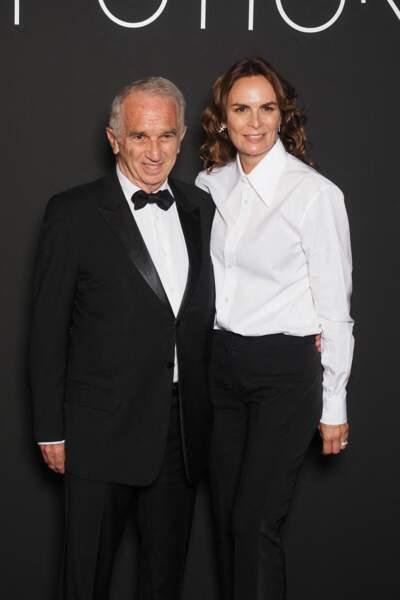 Alain Terzian et sa femme Brune de Margerie à Cannes le 11 juillet 2021