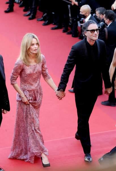 Vanessa Paradis et Samuel Benchetrit le 10 juillet 2021 à Cannes