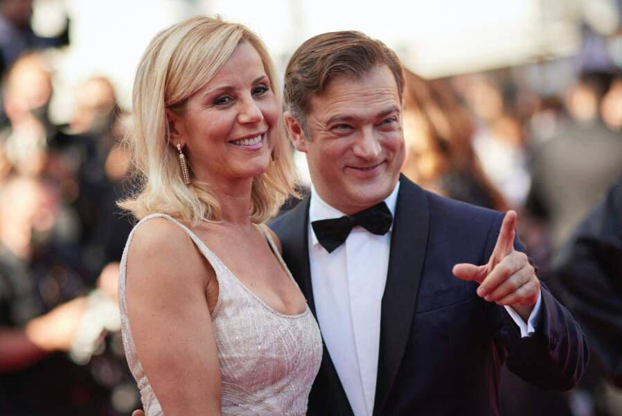 Laurence Ferrari et son mari Renaud Capuçon le 9 juillet 2021 à Cannes