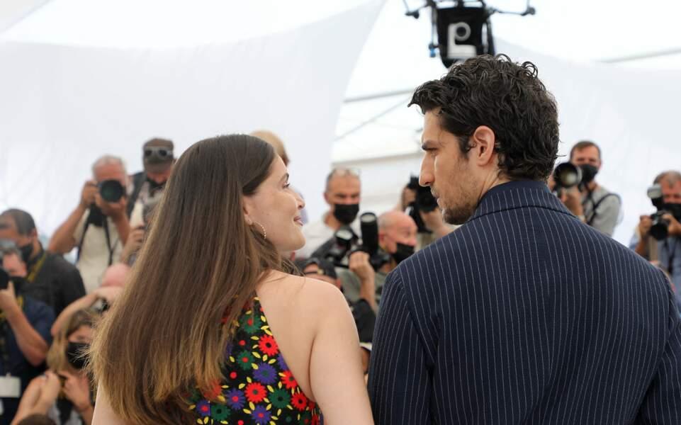 Laetitia Casta et Louis Garrel le 12 juillet 2021 à Cannes