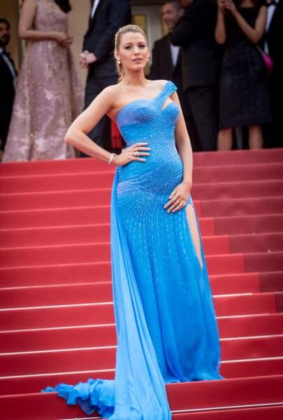 Blake Lively enceinte au festival de Cannes : sublime en robe de sirène qui a ébloui Cannes, le 14 mai 2016
