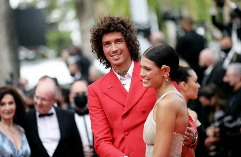 Julian Perretta et sa fiancée Kambree Dalton le 12 juillet 2021 à Cannes