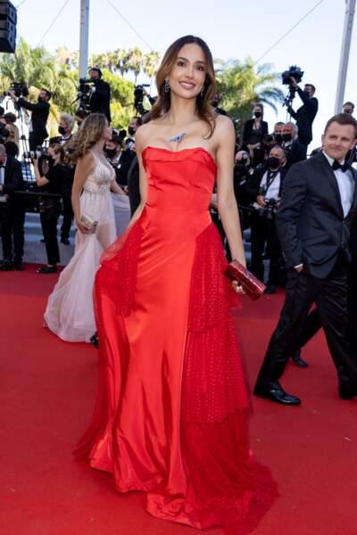 Patricia Contreras était sublime en robe rouge signée Christophe Guillarmé.
