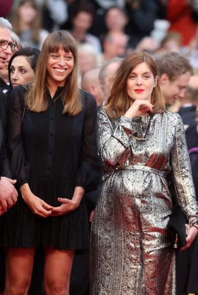 Valérie Donzelli enceinte au festival de Cannes : une jolie robe lamée pour son baby-bump, le 11 mai 2016