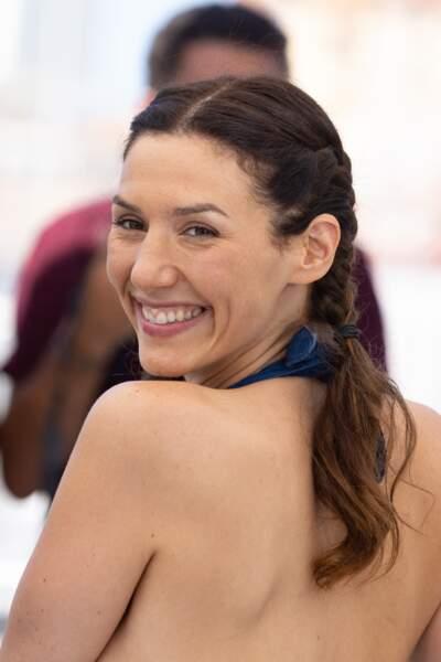 Doria Tillier s'est prêtée au jeu du photocall des Talents Adami lors du 74ème festival international du film de Cannes, le 13 juillet 2021