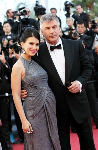 Alec Baldwin et sa femme Hilaria Thomas enceinte, en mai 2013