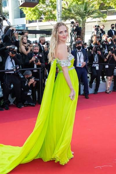 Chiara Ferragni éblouit le tapis rouge en robe Giambattista Valli Haute Couture recyclée lors du 74ème Festival International du Film de Cannes
