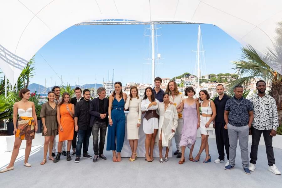 Présente aux côtés de bon nombre d'autres acteurs, Doria Tillier a fait sensation au photocall des Talents Adami lors du 74ème festival international du film de Cannes, le 13 juillet 2021