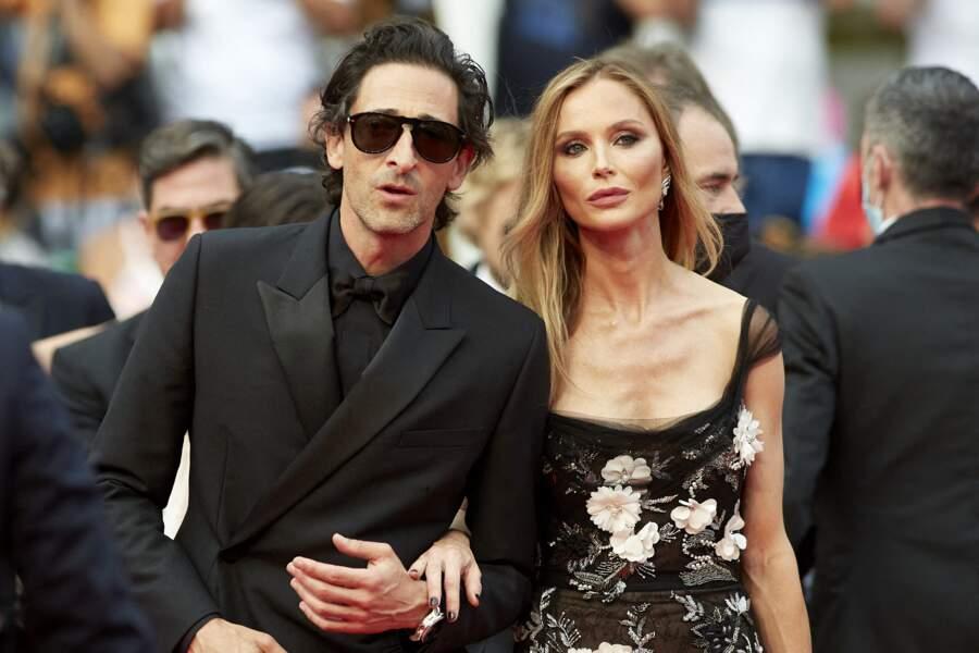 Adrien Brody et sa compagne Georgina Chapman le 12 juillet à Cannes