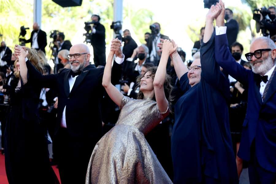 Avec toute l'équipe du film, Valérie Lemercier a mis le feu à la Croisete.