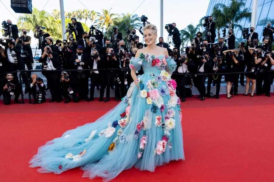 La divine surprise du 14 juillet 2021 à Cannes : l'apparition de Sharon Stone