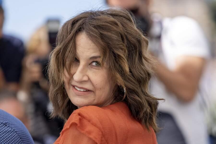 Valérie Lemercier n'a pas boudé son plaisir d'être invitée sur la Croisette.