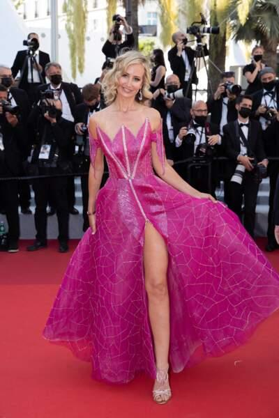 La socialite Lady Victoria Hervey sur le tapis rouge du Festival de Cannes le 14 juillet 2021