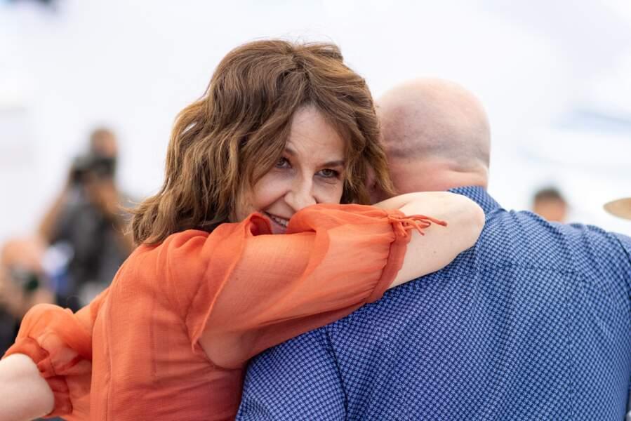 Valérie Lemercier au photocall du film Aline le 14 juillet 2021.