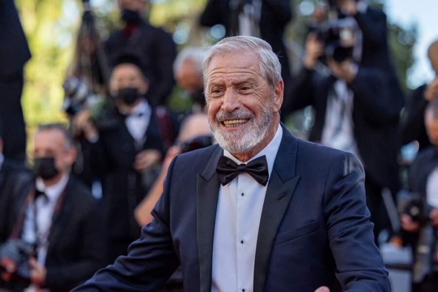 L'homme d'affaires Jean-Claude Darmon sur le tapis rouge du Festival de Cannes le 14 juillet 2021
