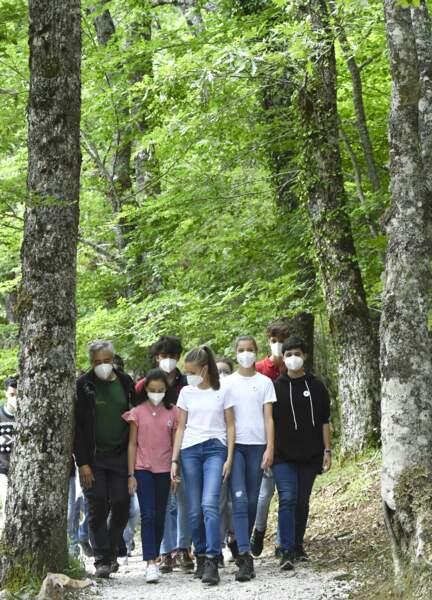 Les deux soeurs ont participé à une initiative visant à sensibiliser les jeunes à la conservation de l'environnement ce 14 juillet