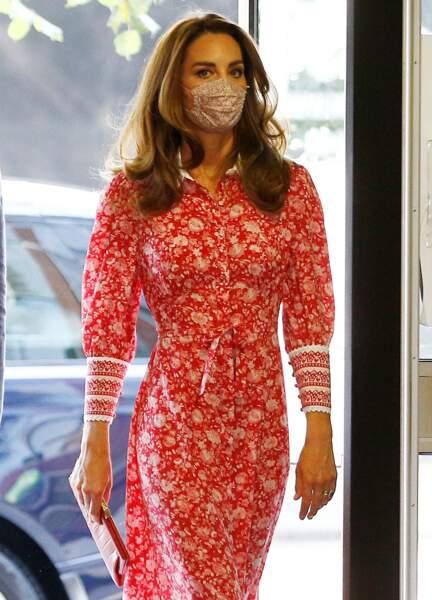 """Kate Middleton capte tous les regards à son arrivée au """"Job Centre"""", à Londres, le 15 septembre 2020"""