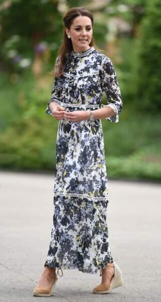 Kate Middleton se rend au Chelsea Flower Show, de Londres, le 20 mai 2019