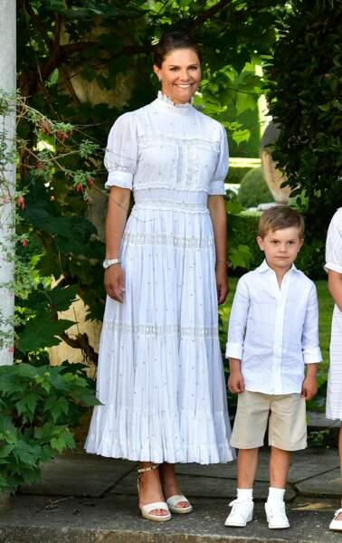 Victoria de Suède en famille pour ses 44 ans : son fils Oscar se fait remarquer, le 14 juillet 2021