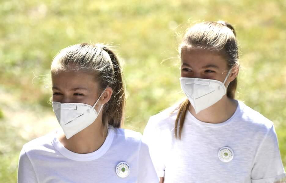 Les princesses Leonor et Sofia ont visité Hayedo de Montejo à Montejo de la Sierra ce 14 juillet