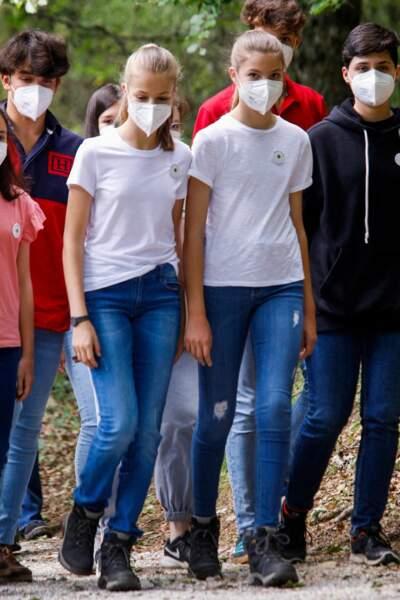 La princesse Leonor et  l'infante Sofia d'Espagne unies pour aider à sauver l'environnement ce 14 juillet