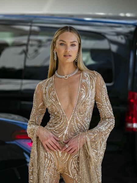 Cannes 2021 : Candice Swanepoel porte des diamants naturels signés Pomellato