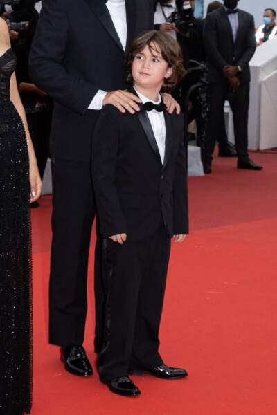Gabriel Merz Chammah, le petit-fils d'Isabelle Huppert et fils de Lolila Chammah, qui a fait ses premiers pas dans le film «Les intranquilles ».