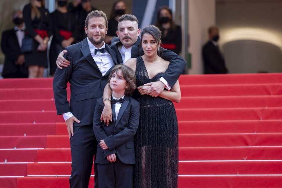 Joachim Lafosse, Gabriel Merz Chammah, Leïla Bekhti et Damien Bonnard unis pour la présentation du film « Les intranquilles ».