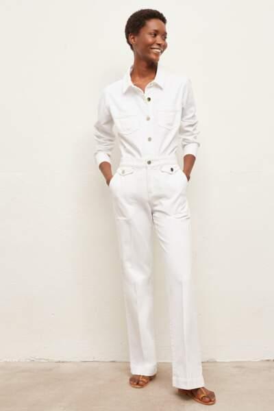 Pantalon large en coton stretch, 160€, Gerard Darel