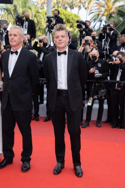Benjamin Biolay s'est prêté à la traditionnelle séance photos avant la montée des marches, à Cannes, le 15 juillet 2021.