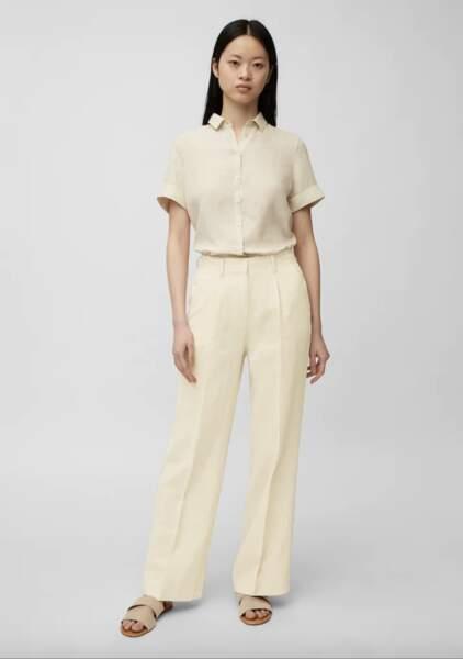 Pantalon à pinces en pur lin, 119,95€, Marc O'polo