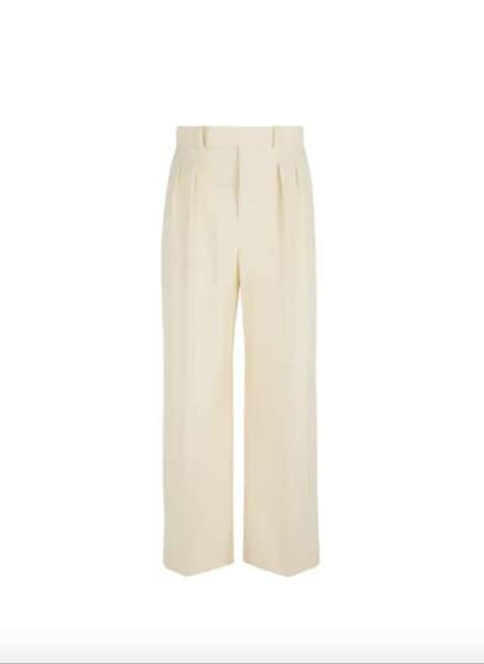 Pantalon Dima en coton Beige, 225,50€, Nanushka sur Printemps.com